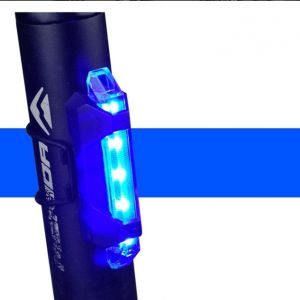 Rapid-X LED Back Lamp Tails Light Rechargeable USB (Blue/Red) rear light