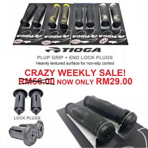 Original Tioga Plup Grips + Bar End Locking Plugs