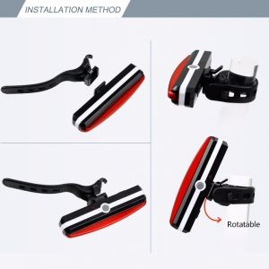 SUPER BRIGHT COB LED USB Rechargeable Bicycle Rear Light