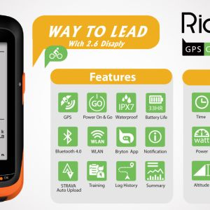 NEW BRYTON RIDER 530T – GPS Head Unit & Cycling Computer (New Cadence + Heart Rate) (Garmin)