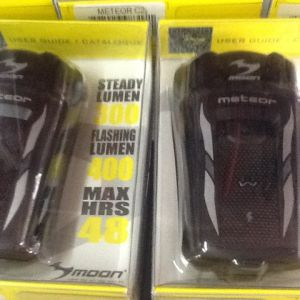 Moon Meteor 300 / 400 Lumens Rechargeable Front Lights (free pos w.m)