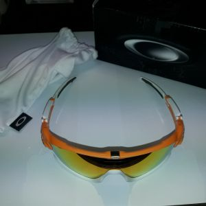 Oakley Jawbreaker - Atomic Orange - Fire Iridium Polarized -