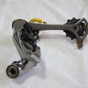 (USED) - Shimano XTR M960 9-Speed Rear Derailleur Rapid Rise - Gold Anodised Cage
