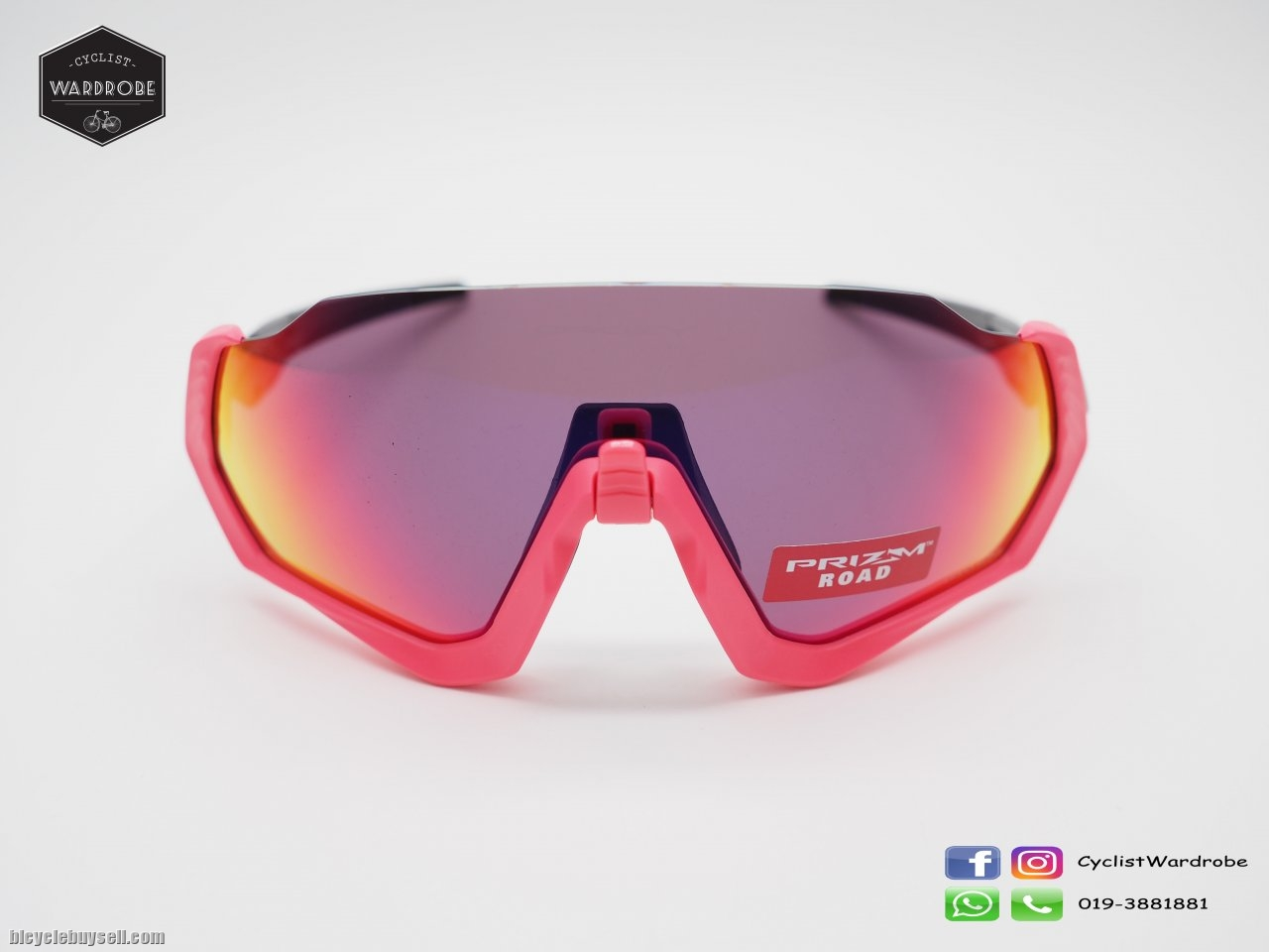 165a703c4d Oakley Flight Jacket Neon Pink Prizm Road (Clearence)