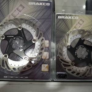 Brakco ice tech 160+180mm combo black last pair clearance