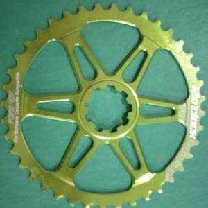 12oclock apple green giant 40t sprocket - last piece clearance