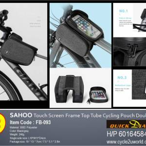 Sahoo Touch Screen Front Frame Top Tube