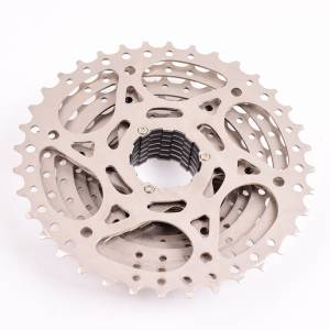 BOLANY CASSETTE 9 SPEED 11-36T SILVER RED | SRAM SHIMANO SUNRACE SUNSHINE