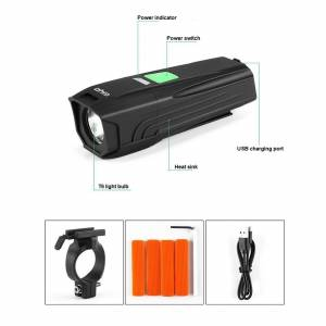GIYO LR-Y7 450Lumens T6 USB Rechargeable Headlight