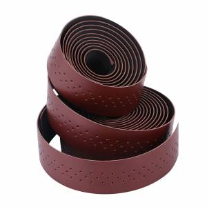 Brown Synthetic Leather Road Bike Handlebar Tape Bicycle Bar Tapes 2pcs Per Set