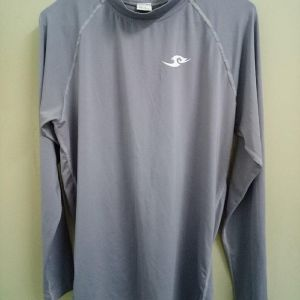Take Five Mens Compression Base Layer Gray Long Sleeve Shirt Sportswear Large