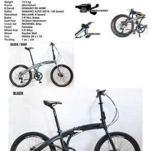 "24"" TRS CONGO FOLDING BIKE BICYCLE BIKE (Aluminium Frame, 8speed)"