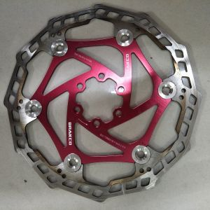 Brakco Fast cooling floating rotor 180mm - ride 2 rides only selling due to changing colour to gold