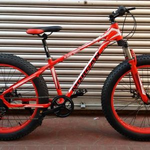 "26"" MORGAN FAT BIKE (7 speed, Aluminium Frame, Front Lock Fork with Suspension, Disc Braked)"