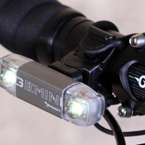 MOON GEMINI 80LUMENS USB RECHARGABLE FRONT LIGHT BLINKER
