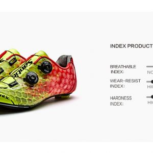 NEW YEAR SALE- SANTIC Alpha 1.0 Men Carbon Road Cycling Shoes - READY STOCK(Yellow)
