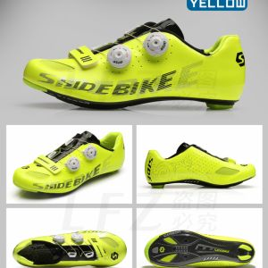 📌Original SIDE BIKE 📌 Carbon Boa Road Cycling Shoe (Silver/ Yellow)