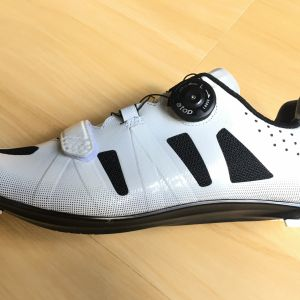 New Year SALE- SANTIC Nigel White Men Road Cycling Shoes - READY STOCK