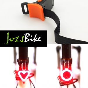 NEW ARRIVALS Creative HEART,CIRCLE,TRIANGLE Design USB LED Blinkers Bicycle Light