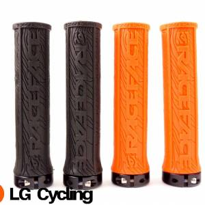 RaceFace Half Nelson Lock-On Handlebar Grip MTB XC DH Orange/Black