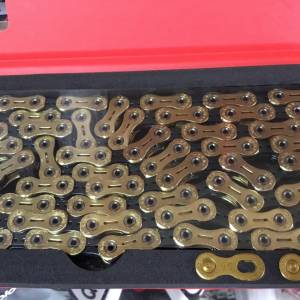 YBN SLA110 11speed Chain / Gold/Black - Limited Color (free pos w.m)