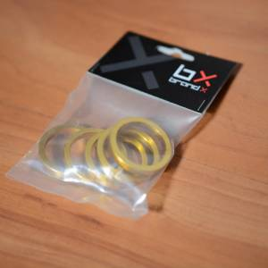 Headset Spacer Pack Alloy 5 x 5mm - Red / Silver / Gold - Free Postage
