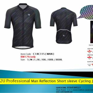 Bright reflective sublimation cycling jerseys