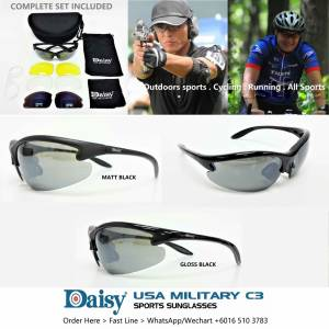 BUY 2 GET 1 FREE - DAISY USA MILITARY SPORTS SUNGLASSES