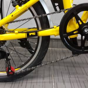 2018 Alloy LIGHT FOLDING BICYCLE MONGOOSE 7SP YELLOW