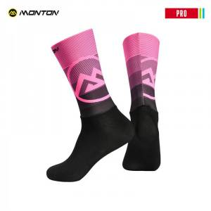 MONTON 2018 PRO 【VALLS】 BLACK PINK CYCLING SOCKS