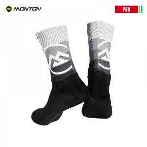 MONTON 2018 PRO 【VALLS】 BLACK WHITE CYCLING SOCKS