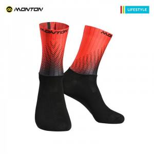 MONTON 2018 LIFESTYLE 【HOWAIN】 RED CYCLING SOCKS