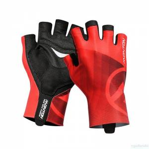 MONTON 2018 LIFESTYLE 【MIRAGGIO】 HALF FINGER CYCLING GLOVES-RED