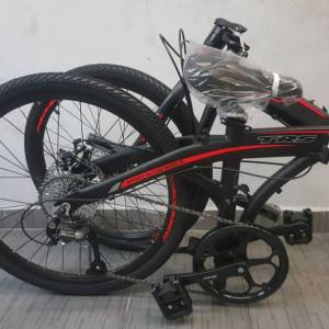 New 2018 TRS Congo 24'' Folding Bicycle Bike 9SP Red