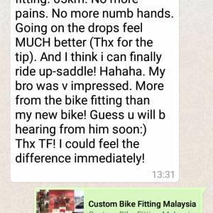 CUSTOMBIKEFITTING UK STAGE 3: FULLY BALANCED BODY+BIKE FIT RM300 -UNDER 18'S RM200 -SUPERBASIC RM100