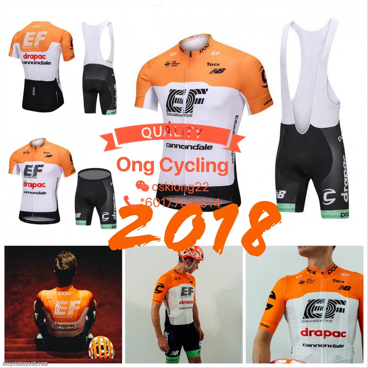 Cannondale 1 - EF Education First-Drapac -Cycling Jersey 05159c105