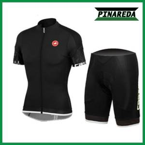 2018 CASTELLI ALL BLACK Jersey Set