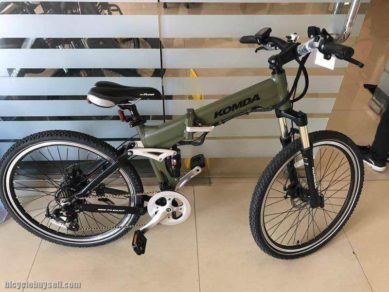 ee7a8a81d3e Komda Electric Bicycle - Alloy Full Suspension - Folding Frame