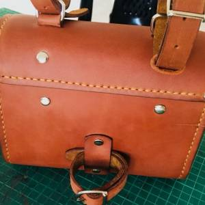 Hand stitched saddle bag