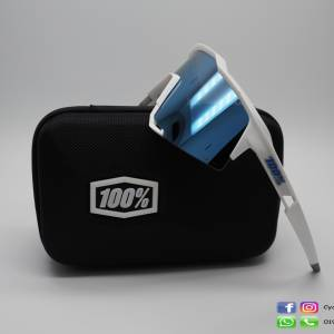 100% Speedcraft Matt White / Hiper Blue Lens (Call 4 best Price)