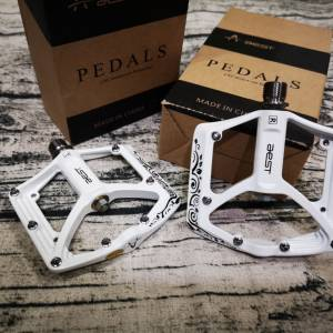 NEW AEST MTB platform pedal ultra lightweight Ti 86g Chrome