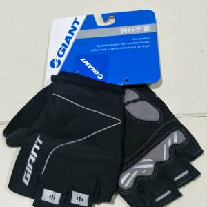 2018 Giant 3D-2 Black Half Finger Cycling Gloves Padded M, L and XL