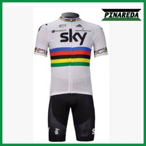 SKY RAINBOW UCI CHAMPION Jersey With Bib