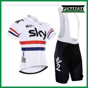 SKY WHITE UK CHAMPION Jersey With Bib