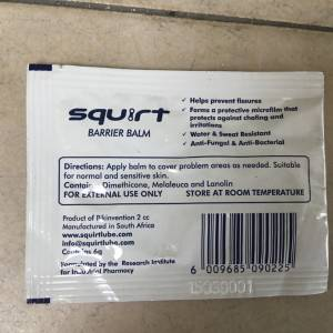 Squirt Barrier Balm 6grams For Long Cycling - Sachet Pack -- free courier