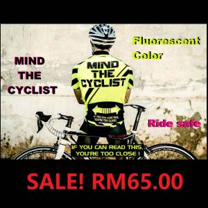 FLUORESCENT COLOR JERSEY MIND THE CYCLIST READY STOCK