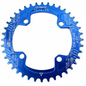 Snail 104BCD Round Narrow Wide Chainring MTB Alloy