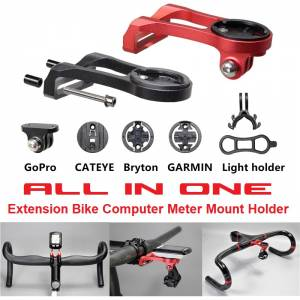ALL IN ONE Extension Bike Computer Meter Mount Holder For GARMIN Edge, Bryton, GoPro, Cateye & etc.