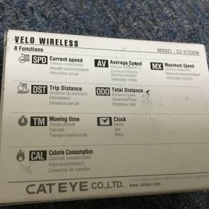 Cateye Velo Wireless Cycle Computer / Made In Japan (free pos w.m)