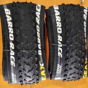 Geax barro race  26*2.0 italy 395gm 2pieces kevlar foldable used only one ride - studs jus like new